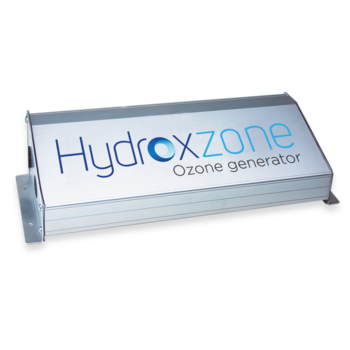 Images showing Hydroxzone ozonator and its branding